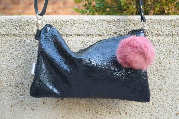 Shinny handbag,blue leather bag,glitter bag,leather handbag,tassel handbag,tassel bag,crossbody leather bag,shinny leather,cocktail clutch