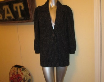 Vintage New York Girl NYG Long Jacket Medium Large Adorable Hip Warm Jacket
