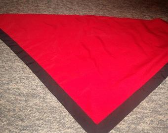 vintage ladies head neck scarf red black triangle