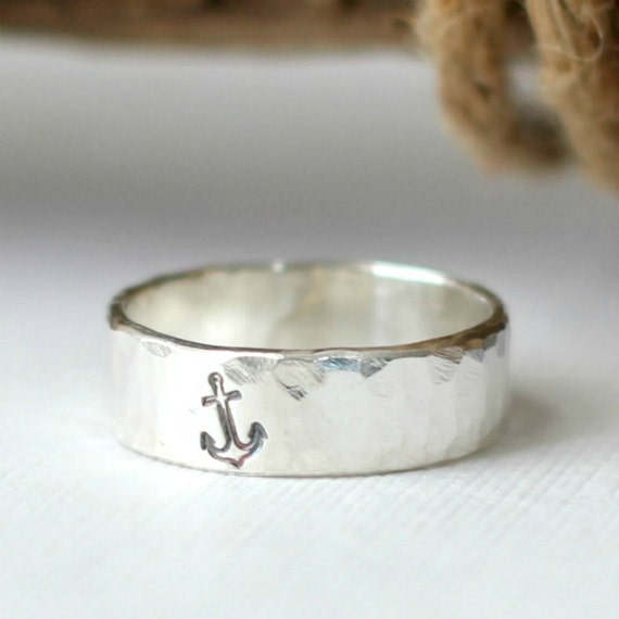 sterling silver anchor ring sterling silver nautical rings