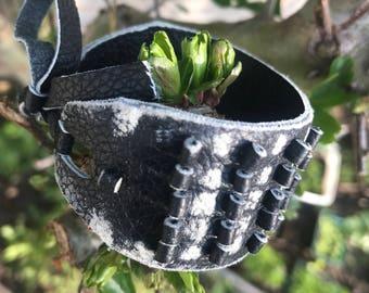 Leather spikes Unique Handmade design
