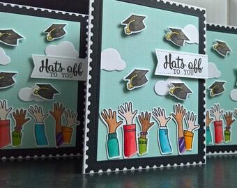 Graduation Card, Congratulations Grad Card, High School Graduation Gift, University Graduation Card, Hats off to You Card, Grad Card
