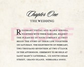 Love Story Wedding Invitation - Reserved Listing for rosemaryvestal  (80 count)