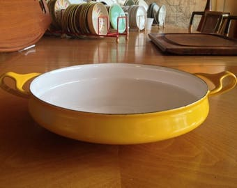 Yellow Dansk Kobenstyle Paella Pan Server Like New