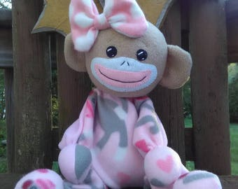 SNUGGLE BUMBLE- Baby Sock Monkey