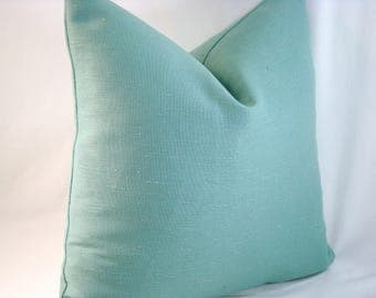 Teal Linen Pillow Teal Pillow Linen Pillow Decorative Pillow Accent Pillow 18x18 Pillow Cover