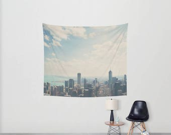 chicago photograph chicago tapestry urban photograph city wall tapestry boho wall art home decor wall hanging sofa throw