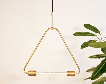Triangle - Brass pendant - Mid century modern