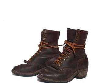SALE 6.5 E | Worn In Danner Lace Up Work Boots