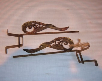 Pair of Art Deco Swing Arm Curtain Rods
