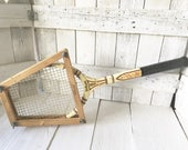 Reserved for Aldo- (without press) Vintage tennis racket racquet wood Wilson Famous Players Ellsworth Vines 1930s