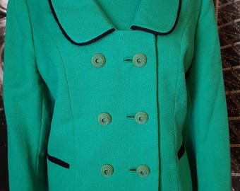 VOLUP Kelly Green 1940s/50s wool jacket and top set
