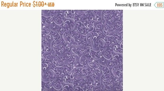 Purple and White Swirl Fabric for MDG 100% Cotton Quilt Apparel Sewing Craft Tonal Tossed White Swirls on Purple Fabric