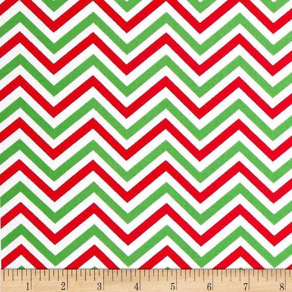 "Chevron fabric,Christmas Chevron fabric,Holiday Chevron,Quilt fabric,Apparel fabric,Craft fabric,END OF BOLT Fabric Remnant 1 Yard 25"" x 36"""