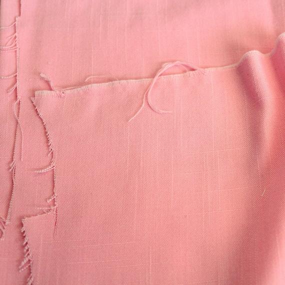 "Cotton Candy Pink Fabric,Slub Linen Fabric,Pink Linen Fabric,Apparel Fabric,Craft Fabric,END OF BOLT Remnant 1 Yard 9"" x 20"""