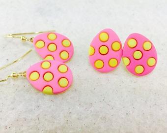 Easter Earrings, Easter Eggs, Easter Egg Earrings, Easter Jewelry, Easter Basket Gift Earrings, Colorful Easter Earrings, Easter Jewelry
