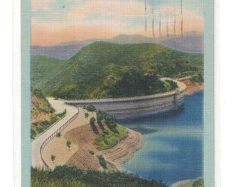 "California, Vintage Postcard, ""The Hollywood Dam, Hollywood, Calif.,""  1947, #1084."
