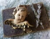 Antique Italian Cartapesta Paper Mache Cherub