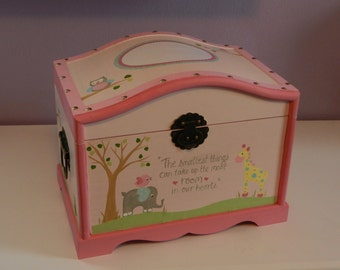 Large Keepsake Trunk/Kids Memory Box/Hope Chest/Ready to Personalize and SHIP