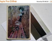 20% off GIFTS 4 MOMS French Fashion, Handmade Mixed Media Card, Girl Art Card, Mixed Media Card, Art Card, Greeting Card, Handmade Greeting