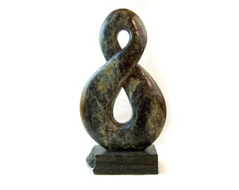 Abstract soapstone sculpture, stone sculpture, gifts for men, home decor, table top sculpture, stone carving, abstract stone carving