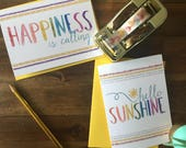 Happiness Is Calling Greeting Card with Coordinating Envelope - Perfect for any occasion