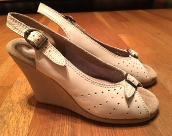 WEDGES FROM HEAVEN-- The Best 1990s 1940s Reproduction Wedges--Size 8