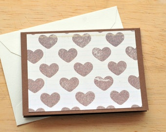 Heart Mini Cards // Set of 4 // Neutral // Blank Cards // Valentine // Gift Card Envelope // Love Note // Enclosure Card // Scrapbooking