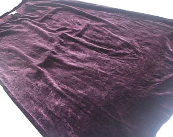 Burgundy silk viscose velvet Laura Ashley skirt UK 18, EU 44, USA 14