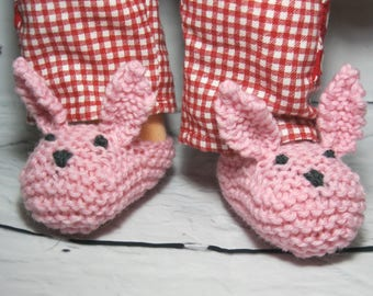 Bunny Slippers for Dolls
