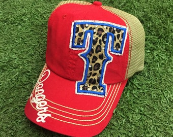 Texas Rangers Baseball Bling Ladies Womens HAt