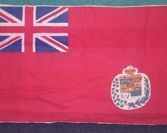 Rare 1873-96 Canada Red Ensign Flag From 1885 Riel Rebellion Homecoming Bunting