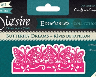 BUTTERFLY DREAMS Metal Die Cut Edge'ables by Die'sire