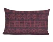 Addis lumbar pillow cover in Midnight/Pasha