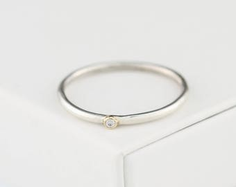 teeny diamond ring, diamond engagement ring, diamond wedding ring, diamond stacking ring