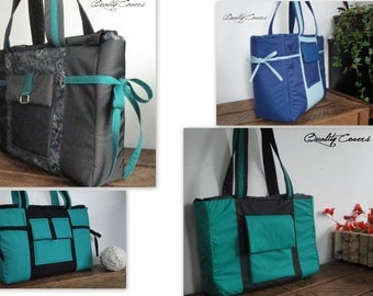 Customizable Laptop bag for Color Fabric and Size - Fully  Padded - WATERPROOF lining - Tote - Handbag - Shoulder Bag - Everyday bag