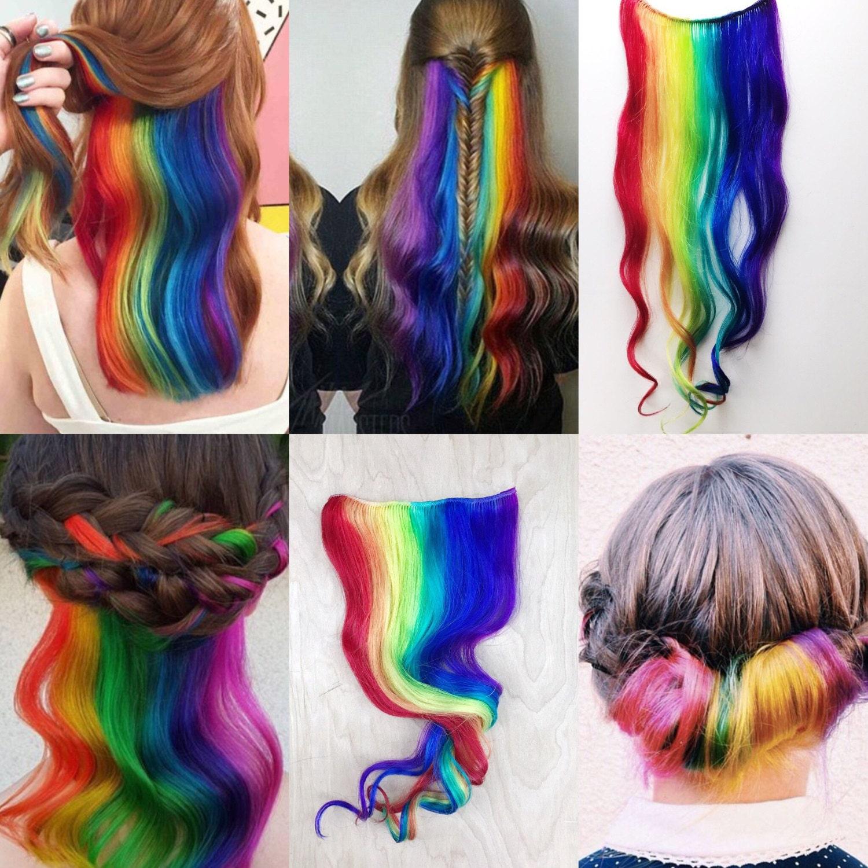 Custom under lights Clip In Hair Extensions Mermaid Hair