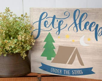 Camping Sign - Camp Sign - Camp Decor - Camper Decor - Camping Decor - Woodland Nursery - Camping Wood Sign - Wood Signs
