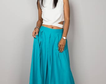 Maxi skirt, blue skirt, aqua skirt, long skirt, women's skirt, floor length skirt, turquoise maxi skirt : Feel Good Collection No.3
