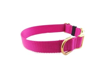 Plastic Buckle Dog Collar, Different Colors, Solid