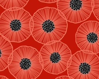 Poppies in Bloom - Large Red Poppies by Patrick Lose from Patrick Lose Fabrics
