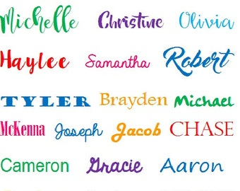 Custom Vinyl Name Decal, Personalized Decal, Name Decal, Word Decal, Name Sticker, Vinyl Sticker