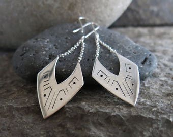 Aja silver earrings