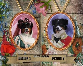 Australian Shepherd Jewelry - Pendant - Brooch  – Dog Jewelry -Dog Jewellery – Dog Pendant – Dog Brooch by Nobility Dogs