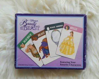 Beauty and The Beast Card Game Magic Mirror 90's Games