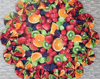 Sweet & Delicious Fruit Medley 12-inch Yo Yo Doily