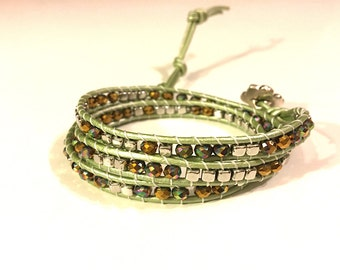 Fresh sparkly 3 wrap bracelet