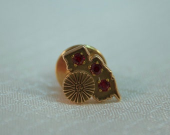 Vintage 10kt Gold and Ruby New Jersey Tie Tack