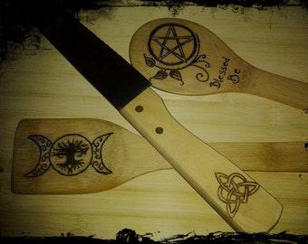 Custom / personalized Knife spoon and spatula set
