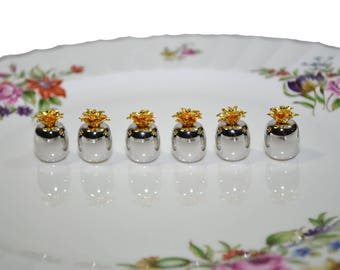 Place Card Holders Pineapple Place Card Holders Silver Pineapple Place Card Holders Wedding Place Card Holders Set of 6